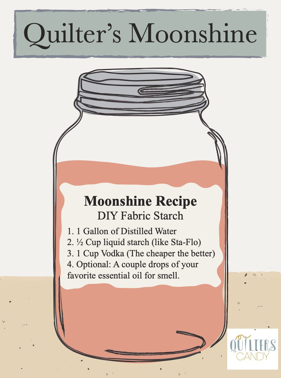 Quilter's Moonshine or DIY Fabric Starch ingredients