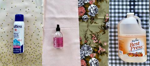 Liquid Starch for Quilters and quilts