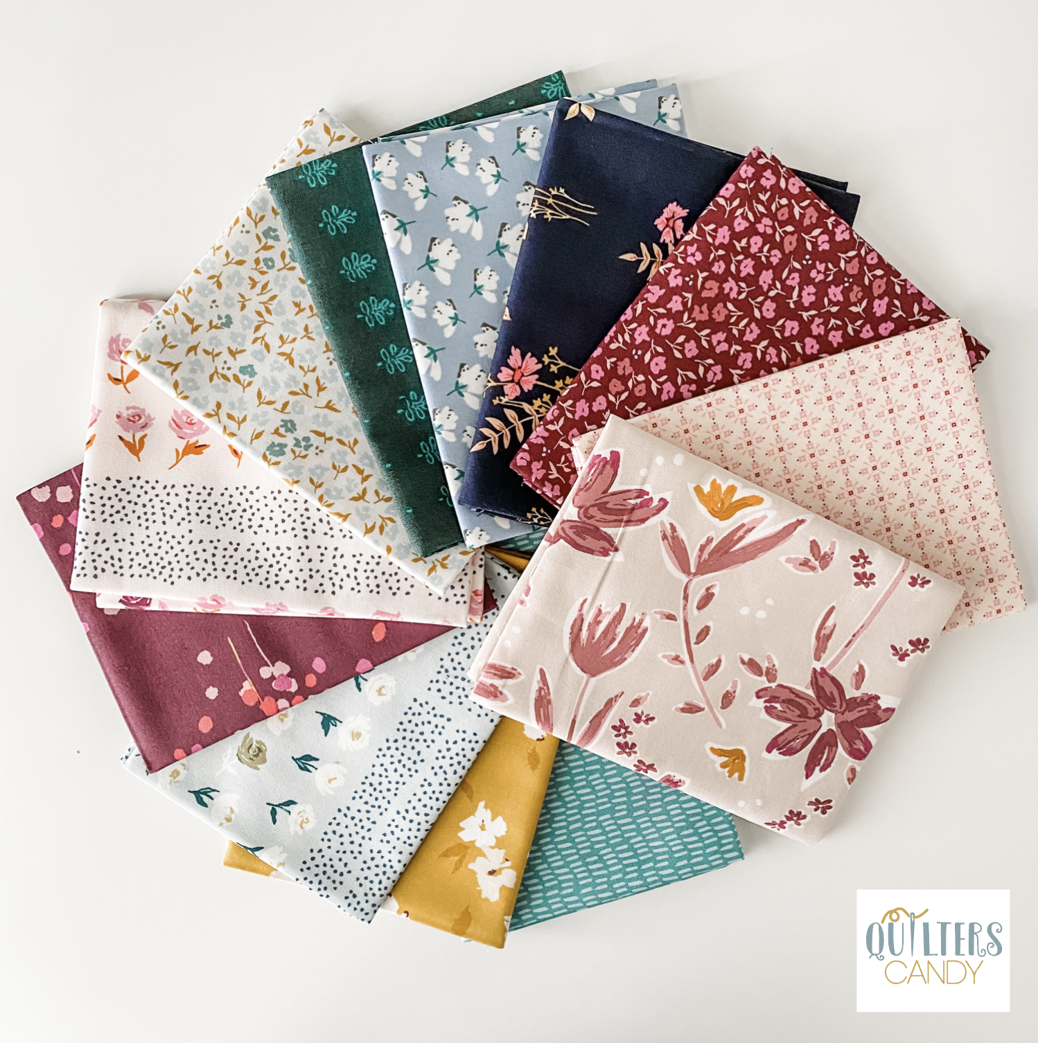 A Bundle of Mayfair Fabric with the Quilters Candy logo in the bottom right corner.