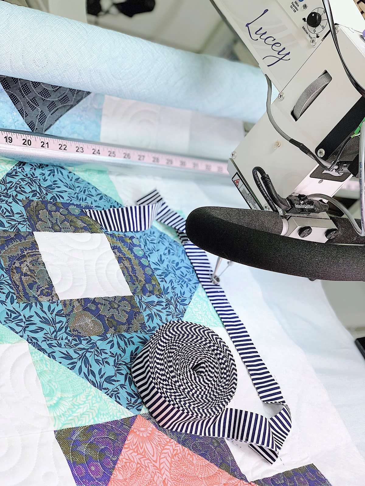 Binding a Longarm Quilted quilt