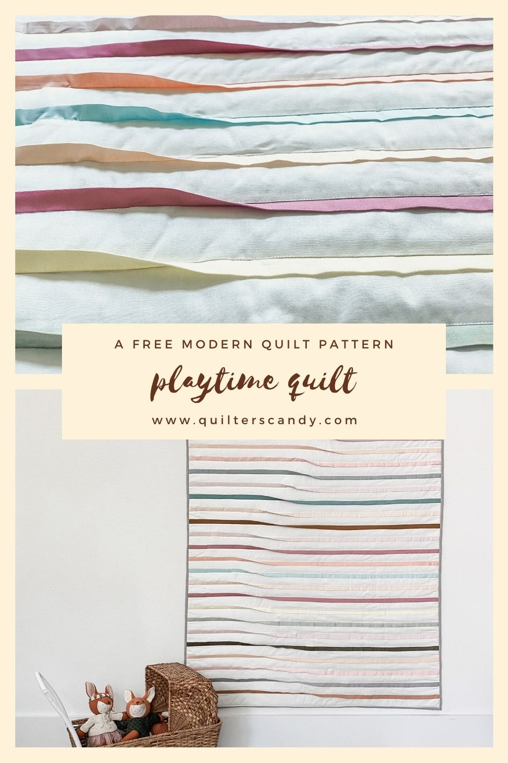 Playtime, a free modern quilt pattern and tutorial