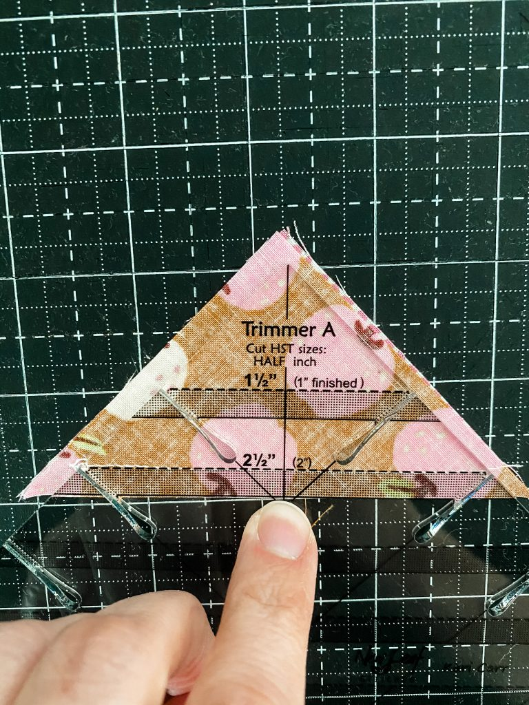 Trimming your Half Square Triangle