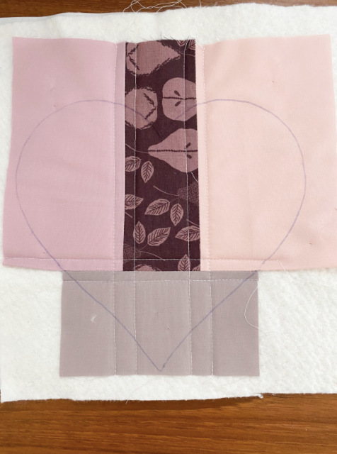 Trace your Fabric Heart Template