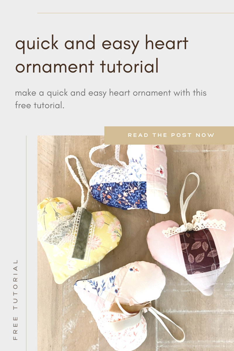 Free Fabric Heart Ornament Tutorial