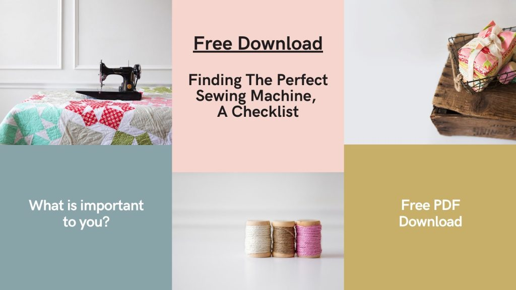 How to Pick The Perfect Sewing Machine