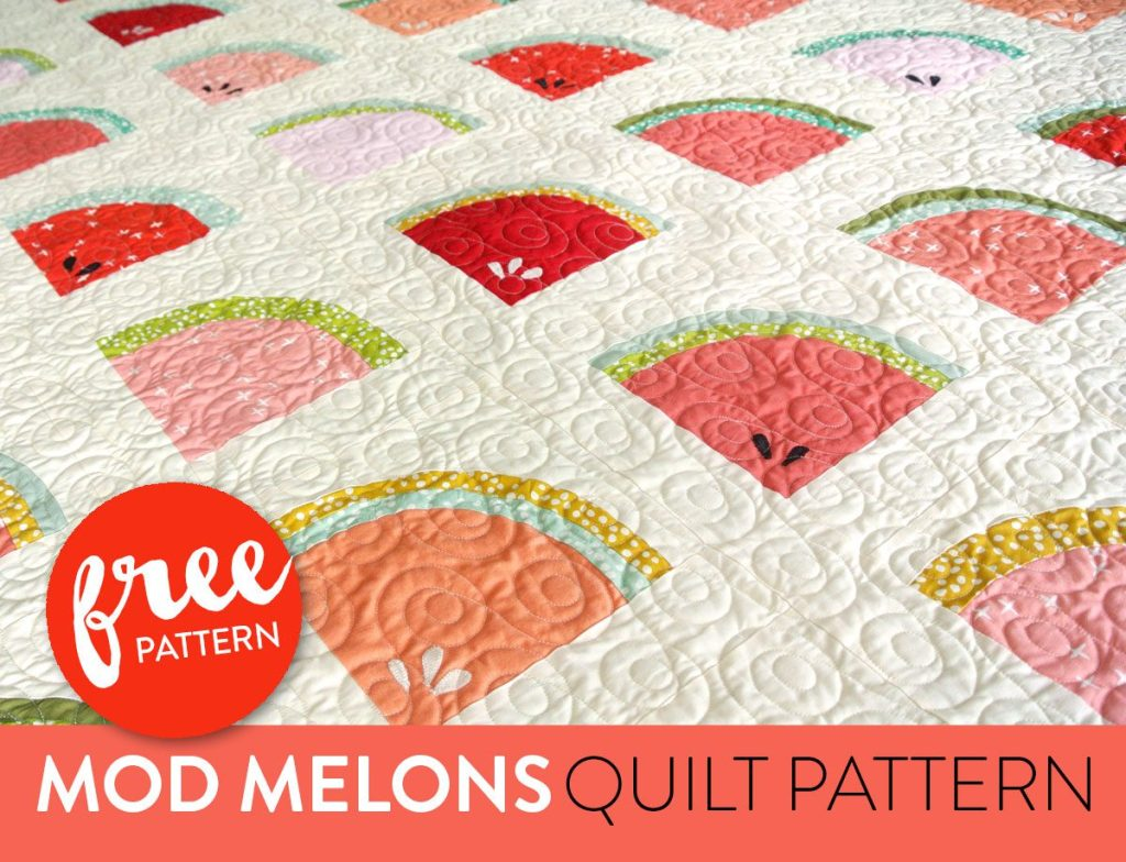 Mod Melons Free Quilt Pattern from Suzy Quilts