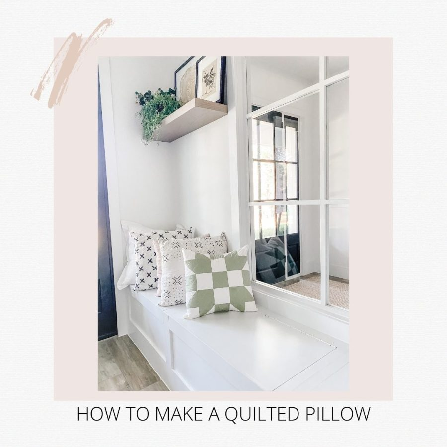 How To Make A DIY Quilted Pillow