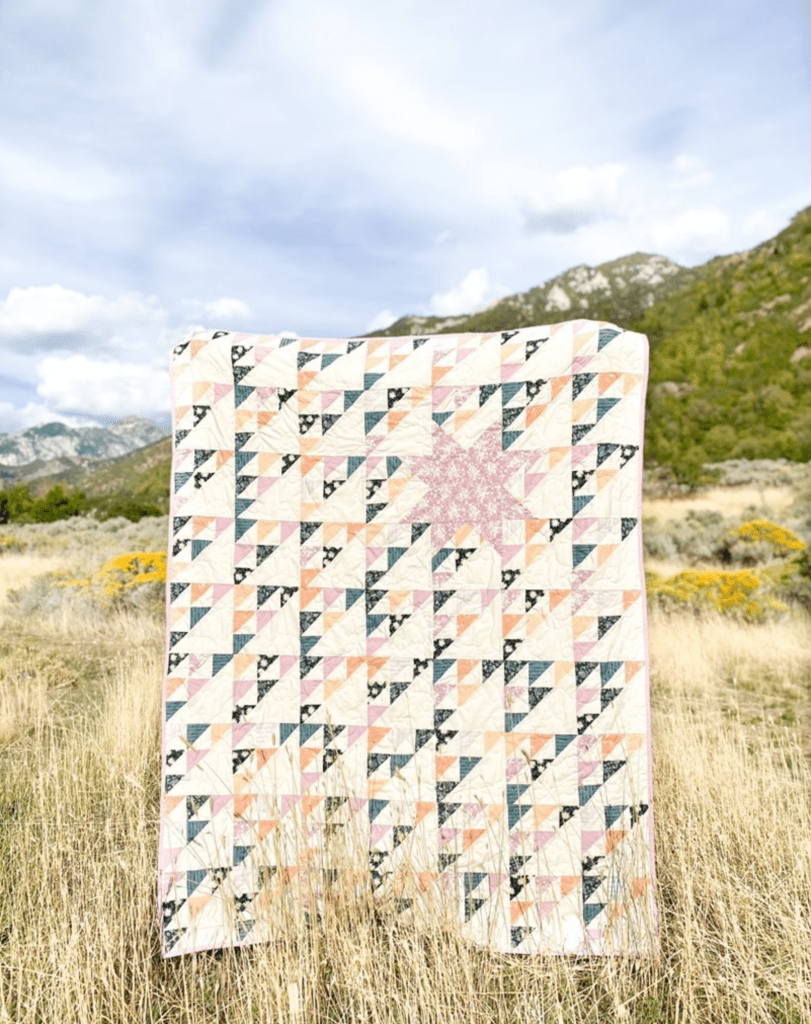 Scrappy Northern Star Quilt by Liza Taylor