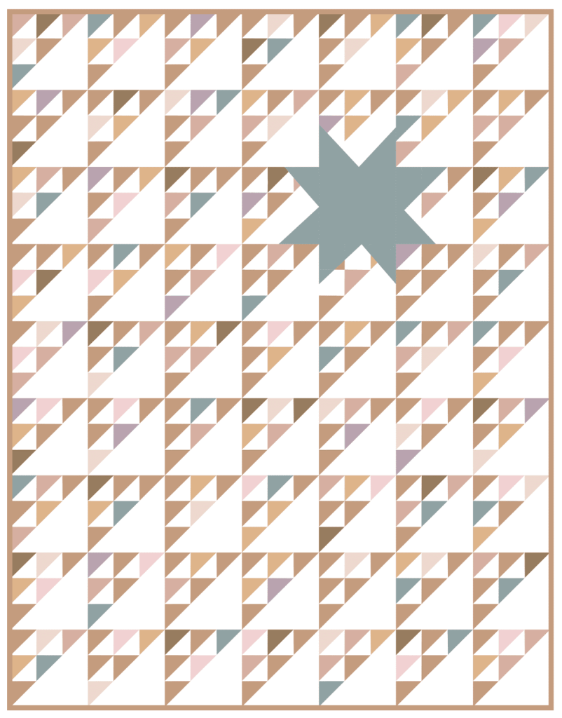 Scrappy Northern Star Quilt by Quilters Candy